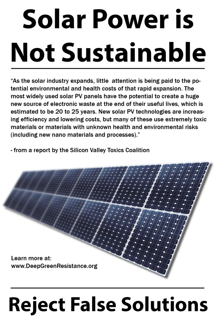 Solar Power - Not Sustainable